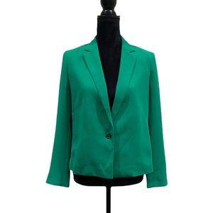 Club Monaco green one button colour trend blazer size 6